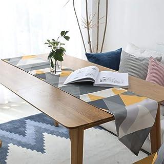 BGSFF Décoration de la Maison Polyester Chemin de Table Double Couche Imperméable Nordic Géométrique Drapeau de Table Déco...