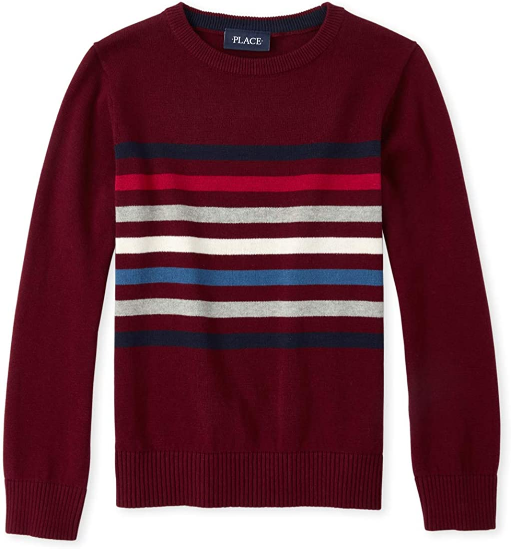 The Children's Place Baby Boys' Big Long Sleeve Stripe Sweater