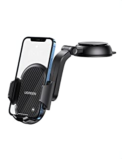 UGREEN Dashboard Phone Holder Car Suction Cup Phone Mount Waterfall-Shaped Mobile Mount Compatible with iPhone 12 SE 11 Pr...