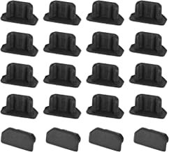 uxcell Silicone Micro USB Anti-Dust Stopper Cap Cover Black 20pcs