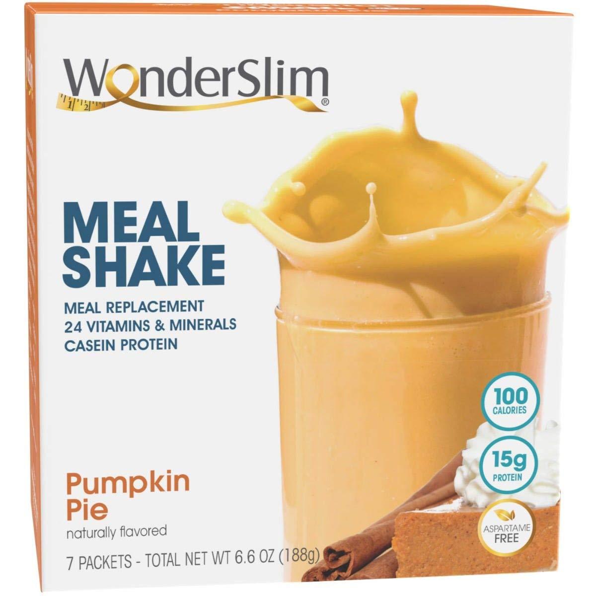 WonderSlim Meal Replacement Shake Pumpkin Vit 24 Super Special SALE held Pie trust Essential