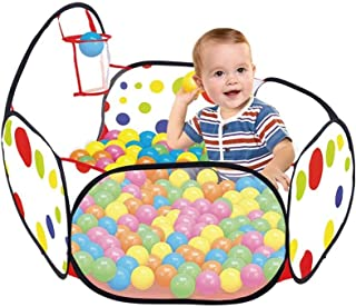 Hli-SHJHsmu 39.8x20.3x14.6In Kids Infant Safety Fence Tent Pool Ball Pit Playpen Tent Pool Ball Basketball Hoop Toys & Hobbies Tool