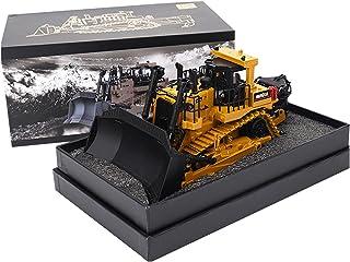 Full Metal Simulation Bulldozer Model 1:50 Diecast Bulldozer Model Metal Construction Vehicle Toy Collection Gift Ornaments