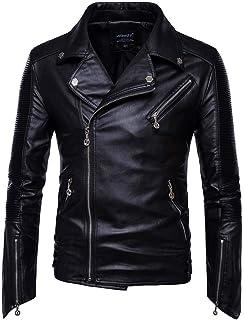 Kstare Men Gothic Leather Jacket Steampunk Faux Coat Trench Renaissance Punk Victorian Windbreaker Tops