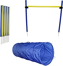 MiMu   Dog Agility Equipment Set, Dog Obstacle Course Equipment with Dog Agility Tunnel, Weave Poles, Dog Agility Jump