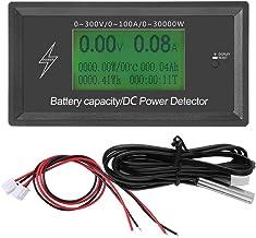 Medidor de voltios digital, 300V/100A Volt Meter Amperímetro Multímetro Power LCD Display Probador de voltaje, Capacidad de la batería Power Tester Detector