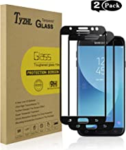 TyZHL [2 Pack] Screen Protector for Samsung Galaxy J7 2017 J730/J7 Pro 2017 /SM-730,[Full Adhesive] Tempered Glass,Compatible J730G J730GM J730F