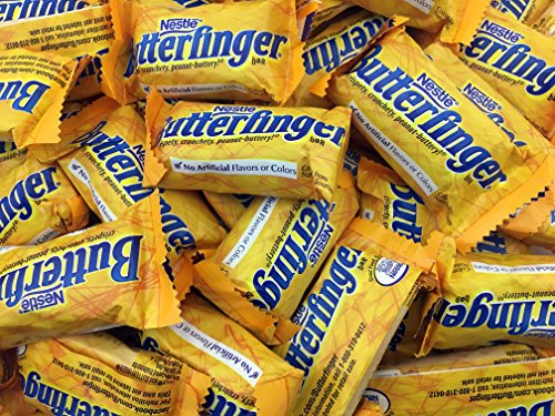 Butterfinger Fun Size Crispy Milk Chocolate Peanut Butter Bars, Halloween Candy, Bulk 2 Lbs