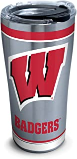 Tervis Wisconsin Badgers Tradition Stainless Steel Tumbler With Lid, 20 oz, Silver