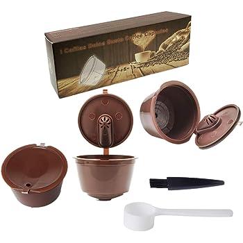 JZK 3 x Filtros cápsulas de café Reutilizable para cafetera Dolce Gusto capsulas rellenables de café de máquina filtros para café molido: Amazon.es: Hogar