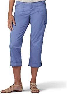 Lee womens Flex-To-Go Relaxed Fit Cargo Capri Pant Pants