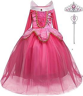 LiUiMiY Déguisement Princesse Fille Costume Enfant Bébé Halloween Carnaval Noël Cosplay Anniversaire Fête avec Baguette ma...