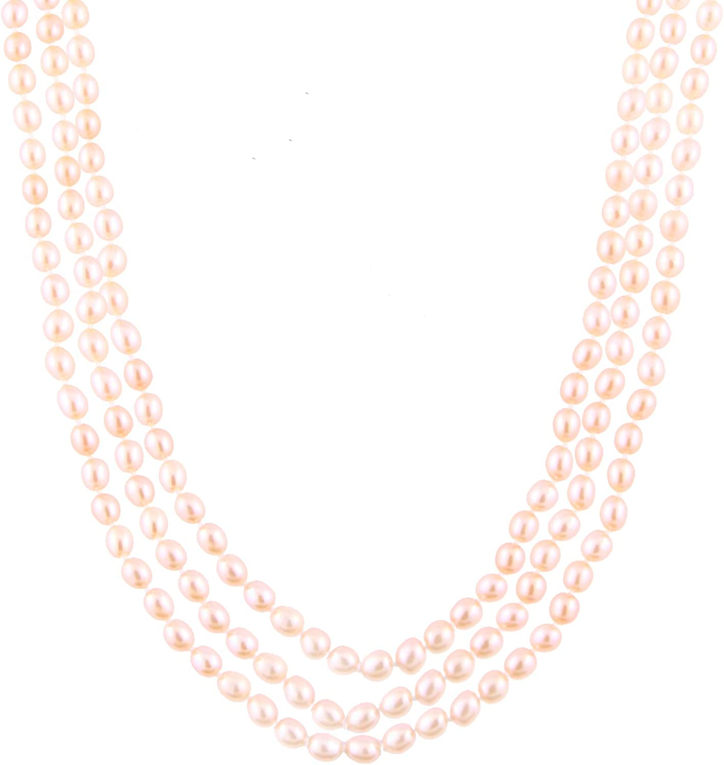 Handpicked A Quality Lavender Freshwater Cultured Pearl Strand Endless 80