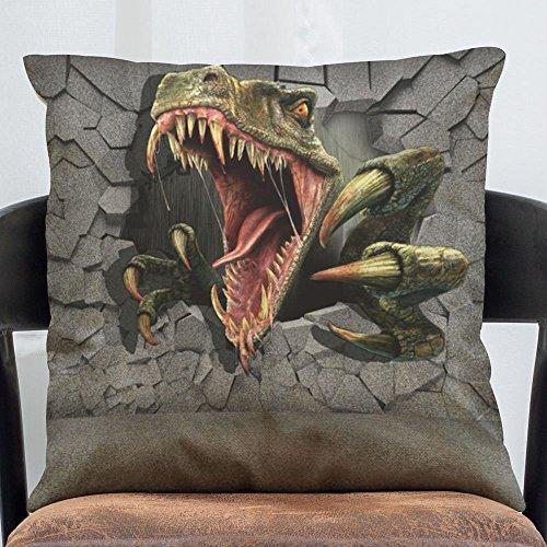 HOMEE 3D Pattern Pillow Cushion Stereo Vivid Animal Stylish Office Furniture Pillow Cushion Vehicle Pillow Cushion,F Linen,45X45