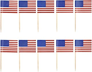 d8f6e1b8bf87 HZOnline Cupcake Toppers American Flag Toothpicks Cocktail Sticks Birthday  DIY Home Patriotic Theme Party Food Fruit