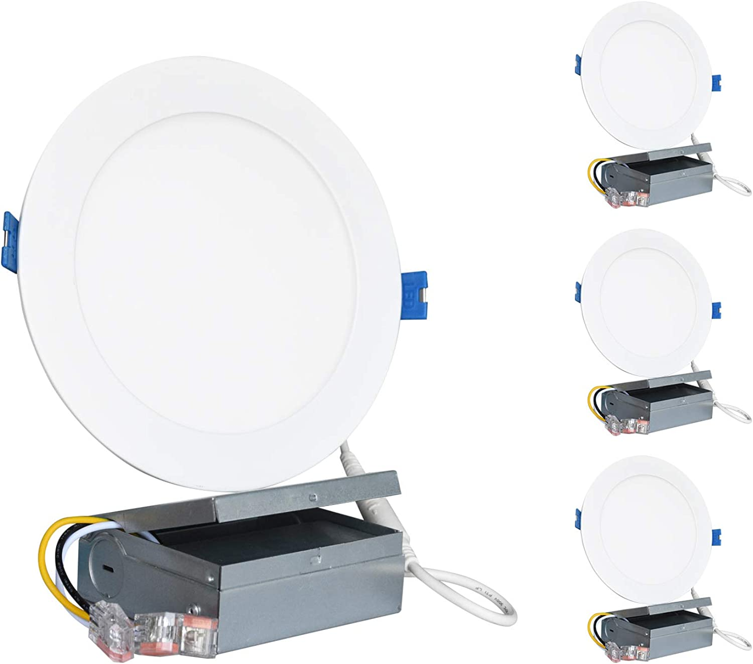 SUNTHIN (4 Pack) 6 inch LED Recessed Ceiling Light with Junction Box, 120V, 14W(100W Replacement) Dimmable Downlight Retrofit, 1000Lm, 3000K Warm White, Simple Retrofit Inssizetion, UL Energy Star