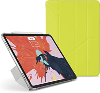 """Pipetto Origami iPad Case Pro 11"""" (2018) with 5 in 1 stand in vegan leather & auto sleep/wake function Pistachio Lambskin/..."""