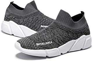 Yong Ding Couple Casual Comfy Sock Sneakers Breathable Mesh Fitness Sneakers Unisex Low Top Seasons Lazy Trainers