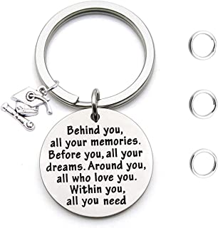 Graduation Gifts Behind You All Memories Before You All Your Dream Graduation Keychain Inspirational Graduates Gifts 2018, 2019