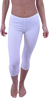 Vivian's Fashions Capri Leggings - Cotton (Junior and Junior Plus Sizes)