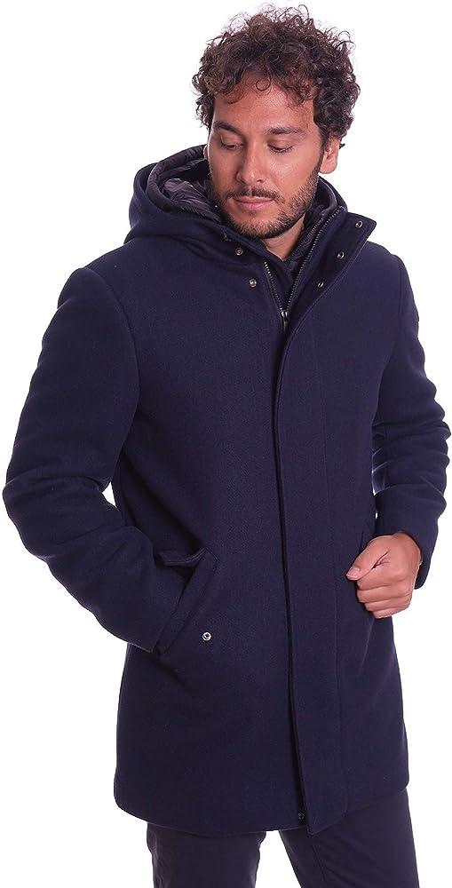 Trussardi jeans cappotto con cappuccio 52S00380-U290-AI19