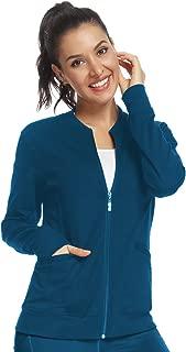 Scrub Jackets for Women Zip Front Warm-Up Jacket