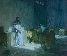Berkin Arts Henry Ossawa Tanner Giclee Art Paper Print Art Works Paintings Poster Reproduction(Daniel in The Lions' Den) #XZZ