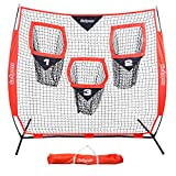 GoSports Football Trainer Throwing Net | Choose Between 8' x 8' or 6' x 6' Nets | Improve QB Throwing Accuracy - Includes Foldable Bow Frame and Portable Carry Case
