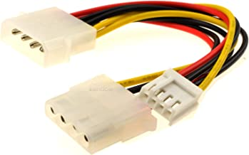 kenable Power Splitter Cable 4 pin LP4 Molex to Molex & 4 pin (Floppy) Plug