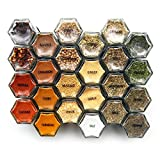 Gneiss Spice 1 Inch Clear Round Labels for Spice Pantry. Black Text with 110 Common Spice Names / 2...