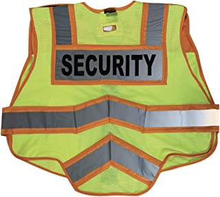 FIRE NINJA SECURITY VEST-Class 2 Reflective Public Safety Vests-Double Breakaway Zipper- 6 Point Breakaway Vest(Oversize, Orange) (3XL)