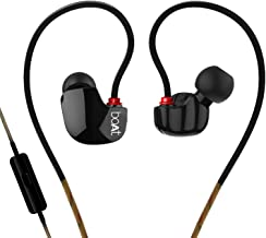 Boat Nirvanaa UNO Wired Earphones with Mic and Case (Black)