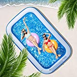 CHICLIST Inflatable Swimming Pool 120' X72' X20' Family Swim Center for Kids Full-Sized Lounge Pool for Kids Adults Easy Set for Backyard Summer Water Party Outdoor Kiddie Pools