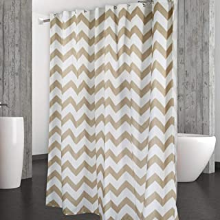 CAROMIO Shower Curtain Water Repellent Chevron Fabric Curtains For Bathroom Geometric 72 X