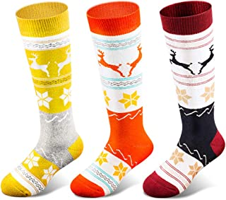 Kids Ski Socks for Boys Girls, Thick Warm for Winter Snow Skiing Snowboard Sports