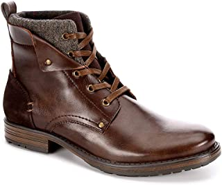 Jeffrey Tyler Mens Kolby Faux Leather Lace Up Boot Shoes