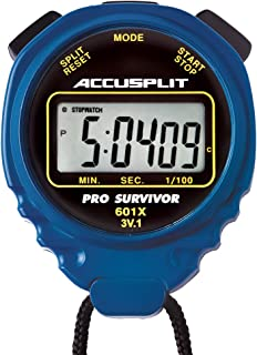 ACCUSPLIT Pro Survivor - A601X Stopwatch, Clock, Extra Large Display