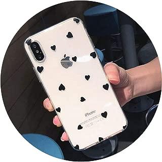 ラブハートのためのiphone 6 6 s 7 8プラスx xr xsマックス5 5 s se電話ケースかわいい漫画波ポイントクリアソフトtpu用iphone x,T3,for iphone XS