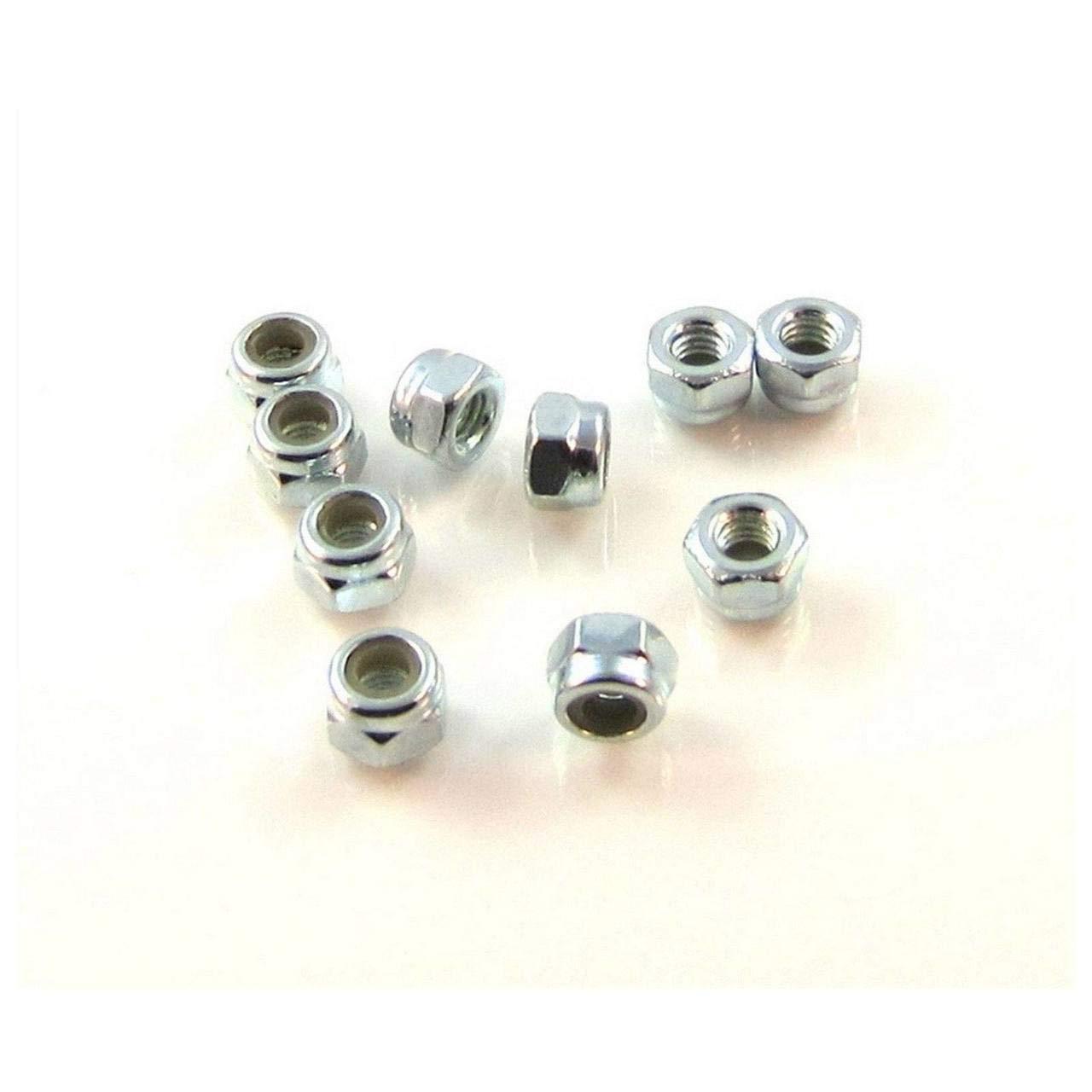 TRB RC 3mm Steel Nylon Fashionable Fashionable Insert 5.5mm 10pcs Locknut Hex DIN-98