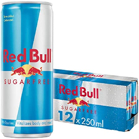 Red Bull Sugar free Energy Drink, 250 ml, Pack of 12