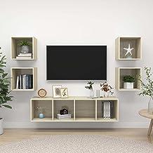 Sonoma eiken spaanplaat meubelen5 stuk TV kast set sonoma eiken spaanplaat