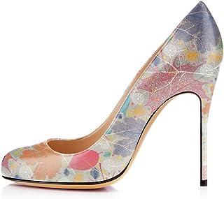 elashe Scarpe Decolte Donna con Tacco,High Heel Scarpe,10CM Scarpe con Tacco Alto Donna