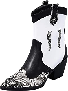 RAZAMAZAWomen Fashion Cowboy Boots Western Heels