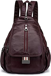 Convertible Small Leather Backpack Purse Cross Body Sling Shoulder Bag