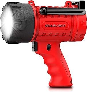 GearLight Waterproof LED Spotlight Flashlight Watchman - High Lumens AA Spot Light Flashlights for Outdoor Camping Accesso...