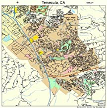 Image Trader Large Street & Road Map of Temecula, California CA - Printed Poster Size Wall Atlas of Your Home Town