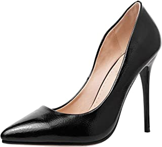AbbyAnne Women Classic Pointed Toe Evening Dress Pumps Slip on