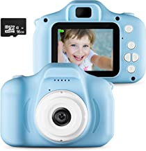 Anlise Digital Camera for Kids,Kids Camera, Children Creative DIY Camcorder with Rechargeable Battery for 3-10 Years Toddler Boys Girls Gift (16G TF Card Included)