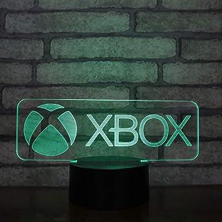 Lampara LED Xbox Logo Cambia Color USB Luz Nocturna