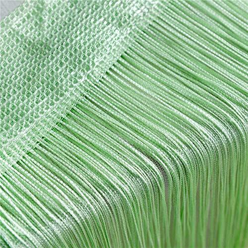 GLITZFAS Vorhänge 100 x 200 cm Fadengardine Fadenvorhang Wandvorhang Schaufensterdekoration, Dekorative Gardine Raumteiler Fliegenschutz für Hochzeit, Café, Restaurant (Gras Grün)